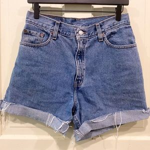 Levi's high waist relaxed fit cut off shorts 10